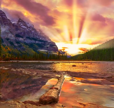 Spectacular Mountain Scene With River At Sunrise2